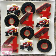 Red Blaze Truck, Monster Truck Cookies.