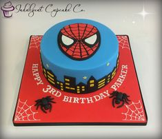 Amazing Image of Spider Man Birthday Cakes . Spider Man Birthday Cakes Spiderman Cake Three In 2 Birthday Cakes For Men, Spiderman Birthday Cake, Shark Birthday Cakes, Birthday Cake Pictures, Novelty Birthday Cakes, Superhero Cake, Themed Birthday Cakes, 5th Birthday