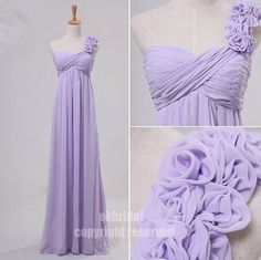 , one shoulderbridesmaid dress, light purple dress, RE074 via Etsy @Abby Mills is this rapunzel or what?
