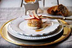 CHEZ SILVIA: Foie micuit con crocanti de jijona y tatin de manzana.