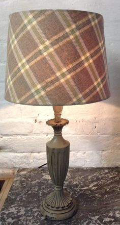 Voyage Wool Check Lampshade with clear liner