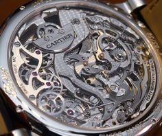 #SIHHABTW 2015: Cartier Grand Complication Back - Most complicated watch Cartier ever made. 5.49 mm thick Geneva Seal movement, 578 components making up for a minute repeater, flying tourbillon, perpetual calendar and micro rotor automatic winding. Grand complication it is. Price is $620,000... follow #SIHHABTW on your favorite social media for all our SIHH 2015 coverage straight from Geneva, and see all our articles on aBlogtoWatch.com