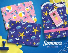 """Check out new work on my @Behance portfolio: """"Summer Beach Stationery"""" http://be.net/gallery/38680999/Summer-Beach-Stationery"""