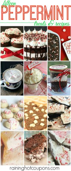 PEPPERMINT EDITED 15 Delicious Peppermint Treat Recipes!