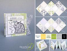 "Mini Birth Album Tutorial ""Duos Set of Animals"" - Djudiscrap Mini Album Scrap, Mini Albums Scrapbook, Stampin Up, Mini Album Tutorial, Craft Club, Book Projects, Card Maker, Mini Books, Baby Cards"