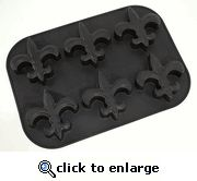 Fleur de Lis Logo Cup Cake and Muffin Pan in Black Silicone