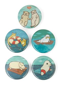 """""""With a button set this cute, the only question will be, which one can you bear to give to your bestie?"""" –@modcloth buttons illustrated by susie ghahremani / boygirlparty.com available at ModCloth!"""