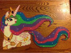 MLP Princess Celestia perler beads by MoonSplashpony on DeviantArt