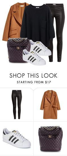 """Untitled #11782"" by vany-alvarado ❤ liked on Polyvore featuring H&M, adidas and Chanel"