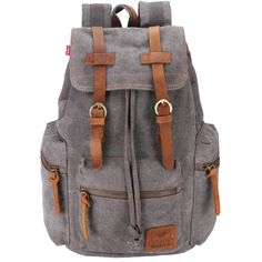 Canvas Backpack Unisex Rucksack Vintage Knapsack College School Bags Casual Daypacks Hiking Travel Shoulder Bag for Hiking Camping Outdoors -- Discover this special product, click the image : Hiking gear Retro Backpack, Vintage Leather Backpack, Small Backpack, Canvas Backpack, Travel Backpack, Outdoor Reisen, Laptop Rucksack, Vintage Backpacks, Vintage Canvas