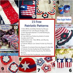 Celebrate 4th of July and Labor day with these 15 free crochet patriotic patterns!