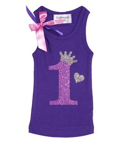 Look at this Purple 1st Birthday Shirts 785763f2dd91