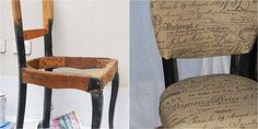 Descubre el antes y el después de esta silla de estilo francés que ha quedado como nueva.