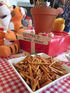 Winnie the Pooh-themed birthday party - Eeyore's House sticks