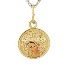 Zlatý prívesok Panna Mária