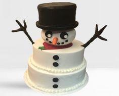 Snowman Christmas Cake Cake Shop, Christmas Snowman, Wedding Cakes, Create, Disney, Desserts, Food, Wedding Gown Cakes, Tailgate Desserts