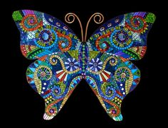 Stained Glass Mosaics - Butterfly - Susan Walden - Warner Robins GA - Armstrong Glass Company