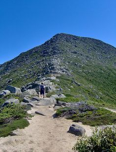Katahdin in Maine ~ This trail is part of the Appalachian Trail. Katahdin is located in Piscataquis County, 25 from Millinocket. (think I'll just wait here in the car ; Camping In Ohio, Camping Store, Maine, Baxter State Park, Hiking Places, New England Travel, Thru Hiking, Appalachian Trail, Travel And Leisure