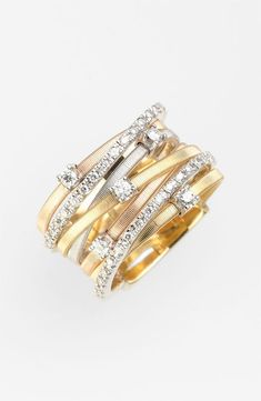 Seven Band Diamond Ring ~ Colette Le Mason @}-,-;---