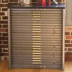 Marvelous Metal Printeru0027s Type Cabinet, $682, Now Featured On Fab. Flat File Cabinet,