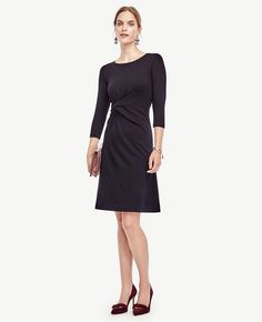 FLARE SWEATER DRESS  Ann Taylor, fashion, clothing, clothes, style, fall fashion