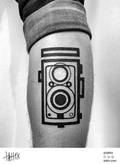 LOVE THIS!!! Ben Volt Tattoo - Twin Lens Reflex Camera, for Joe