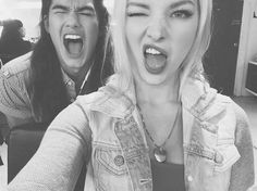 Booboo Stewart and Dove Cameron Selfie