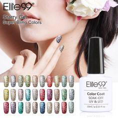 Empapa del gel 3d efecto estrellado elite99 uv led esmalte de uñas brillo bling del gel del polaco del barniz para uñas de manicura diseño