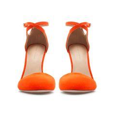 HIGH HEEL VAMP SHOE WITH ANKLE STRAP - Shoes - Woman - ZARA Czech Republic