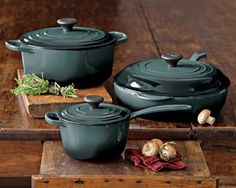 "Le Creuset Signature 6-Piece Cookware Set in ""Ocean"""