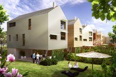 Cette année, Maison DTT a frappé fort avec la conception d'un éco-quartier unique appelé les Jardins du Nouvel'R. Le projet réunit des #logements collectifs et des #maisons de type T4/T5 de 102,64 m², sur pilotis. Situé à Saint-Pierre-des-Corps, non loin de Tours, ces habitats ont été imaginés avec des espaces de vie communs, des jardins partagés mais aussi une communication douce, à pied ou en vélo. Prix : 153 000 euros TTC