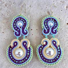 Handmade ZuzDesign Soutache Earings Elina http://femmefashion.sk/zuz-design/2389-nausnice-elina.html