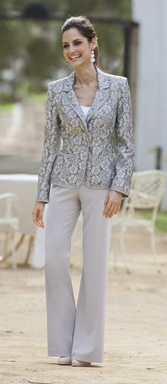 7f01bd4efce Silver grey lace jacket www.together.co.uk Mother Of The Groom Trouser