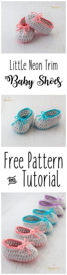 "Neon Trim Crochet Baby Shoes + Free Pattern, Baby Slippers + Tutorial, Crochet Socks, Crochet for Babies, Crochet for Girls [ ""Neon Trim Crochet Baby Shoes Free Pattern, Baby Slippers Tutorial, Crochet Socks, Crochet for Babies, Crochet for Girls - Crocheting Atlas"", ""2017 new fashion shoes shows 019 casual shoes white cotton-made sheakers"", ""Some things about the were cool. But let"