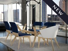 Check out our NEW Vaughn Dining Table! Made in Canada with clear glass and a natural washed colour! See more at - www.modernsensefurniture.com
