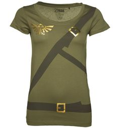Womens Zelda Link Costume T-Shirt Play your favourite Gaming character for real in this awesome official Zelda, Link costume tee! http://www.MightGet.com/february-2017-3/womens-zelda-link-costume-t-shirt.asp