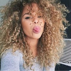 ombre curly hair tumblr - Google Search