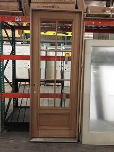 """#X022 8'0"""" Tall 6-Lite Mahogany Entry Door Pre-hung Door Unit"""