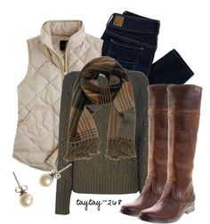 """""""Puffy Vest"""" by taytay-268 on Polyvore"""