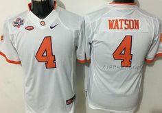 http://www.xjersey.com/clemson-tigers-4-deshaun-watson-white-college-youth-jersey.html CLEMSON TIGERS 4 DESHAUN WATSON WHITE COLLEGE YOUTH JERSEY Only $35.00 , Free Shipping!