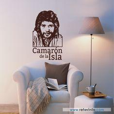 """""""Camarón de la Isla"""" José Monje Cruz, conocido artísticamente como Camarón o Camarón de la Isla, fue un cantaor español gitano, considerado una de las principales figuras del flamenco. Este vinilo se entrega en una pieza de 56x100 cm #retovinilo #vinilosdecorativos #vinilo #musica #flamenco #camaron"""