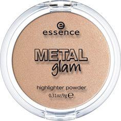 Essence. Metal glam - highlighter powder. Пудра-хайлайтер. Оттенок 01 gold digger.