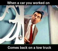 'Uhh ohh what did i fuck up this time?' is whats usually going through my head :/ Truck Memes, Car Jokes, Funny Car Memes, Car Humor, Jeep Humor, Truck Quotes, Funny Shit, Funny Stuff, Funny Quotes