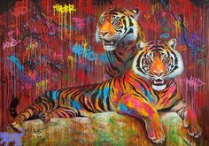 Jaguar Azul Street Art