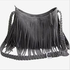 Charlee Cooper Fringed Shoulder Handbag Satchel