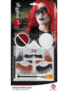 Harlequin Make-Up Kit, with Face Stickers