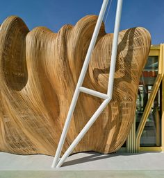 tomás amat estudio bases the cicada pavilion on insect morphology Parametric Architecture, Wood Architecture, Parametric Design, Bamboo Structure, Great Buildings And Structures, Modern Buildings, Alicante Spain, Digital Fabrication, Facade Design