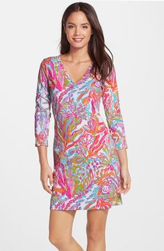 73b7d4aaeb4 Lilly Pulitzer®  Christie  Print V-Neck Shift Dress available at  Nordstrom