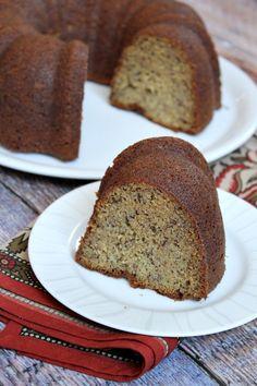 Classic Banana Bundt Cake #recipe - perfect, tender texture.