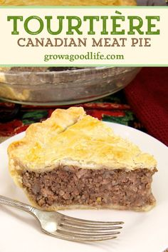 French Canadian Meat Pie Recipe, French Meat Pie, Canadian Cuisine, Canadian Food, Canadian Recipes, Minced Meat Recipe, Minced Meat Pie, Meat Recipes, Recipies
